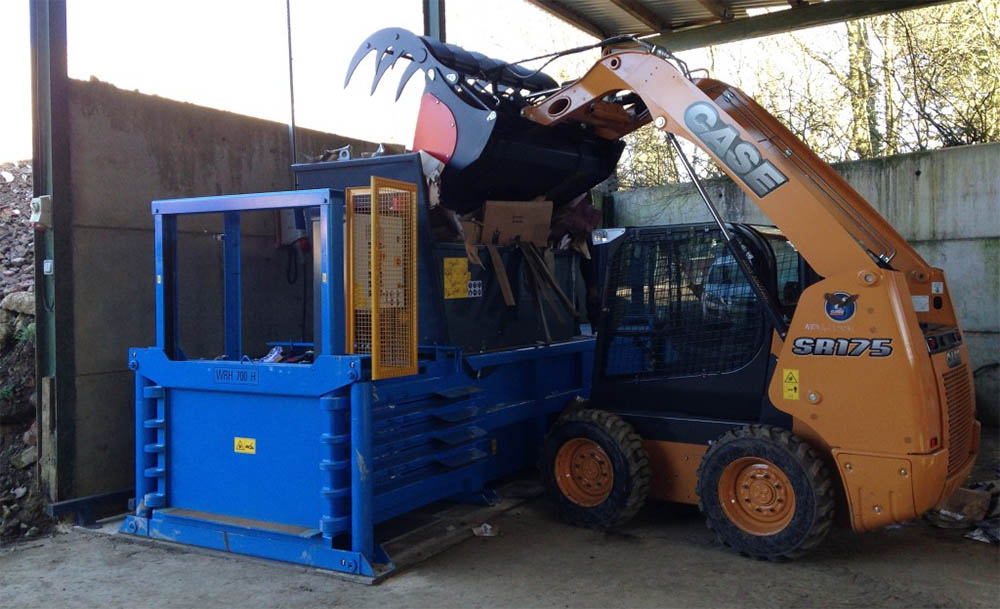 Recycling baler