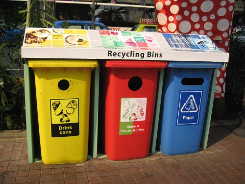 Recycling Bins for Plastic Packaging